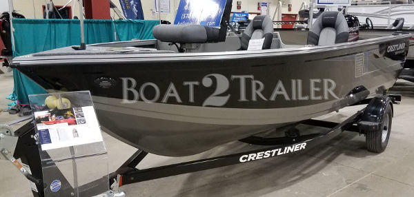 Crestliner Baot2Trailer Black Grey Trim