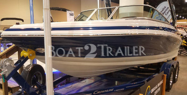 Crownline Boat2TrailerBlue White