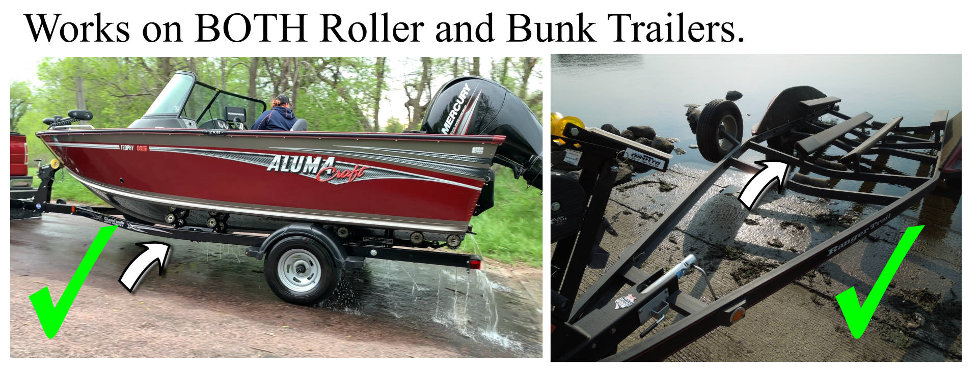 roller and Bunk Boat2Trailer