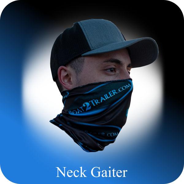Black - Blue Oval Neck Boat2Trailer Gaiter